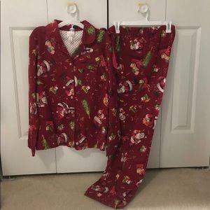 Women's small Christmas pajamas set